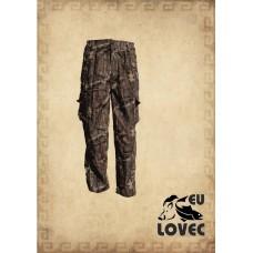 Detské, mládežnícke menčestrové nohavice kamufláž letný vzor