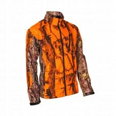 Nepremokavá sofschelová bunda Oranžový vzor
