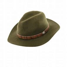 Poľovnícky klobúk s koženým páskom  1