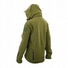 Fleecová bunda na zips olivovo zelená