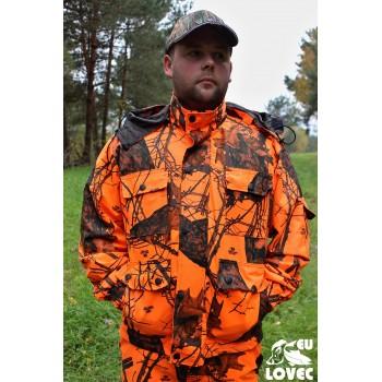 Tenká bunda Oranžový vzor