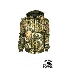 Odolná bunda s kapucňou na zips-Letný vzor