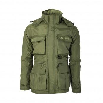 Zelená bunda s odnímateľnými rukávmi