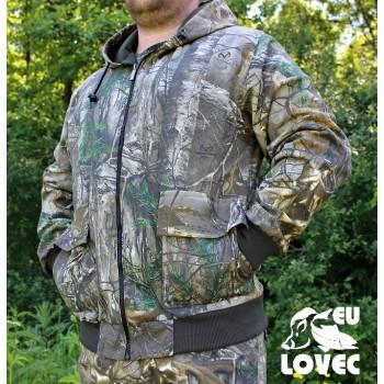 Odolná bunda s kapucňou na zips-Jesenný vzor