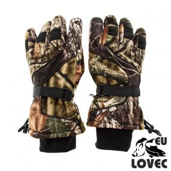 Zimné fleecové rukavice Lesný vzor