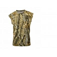 Tričko bez rukávov letný vzor hnedý