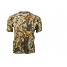 Tričko s krátkym rukávom Letný vzor hnedý
