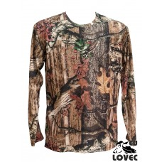 Tričko s dlhým rukávom Letný vzor tmavý