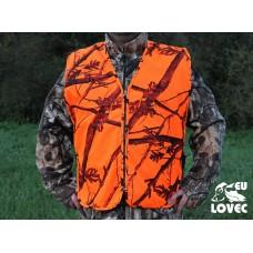 Vesta Oranžový vzor