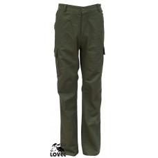 Nohavice Olivovo zelené